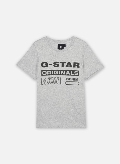 Tøj G-Star Tee-shirt SS SR10036 Grå detaljeret billede af skoene