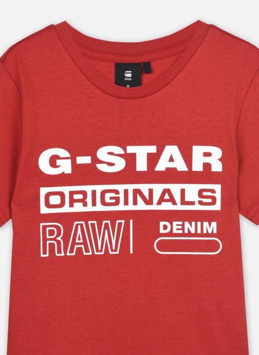 Tøj G-Star Tee-shirt SS SR10036 Rød se forfra