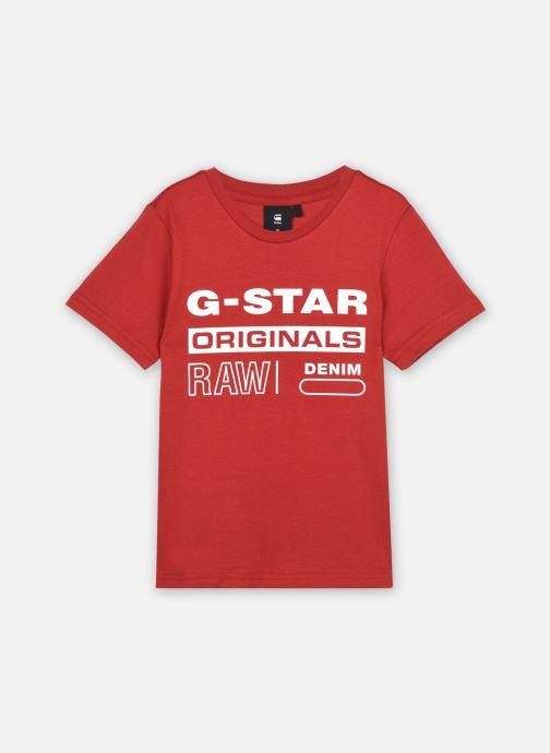 Tøj G-Star Tee-shirt SS SR10036 Rød detaljeret billede af skoene