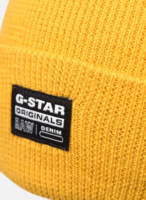 Gorro G-Star Beannie Amarillo vista de frente