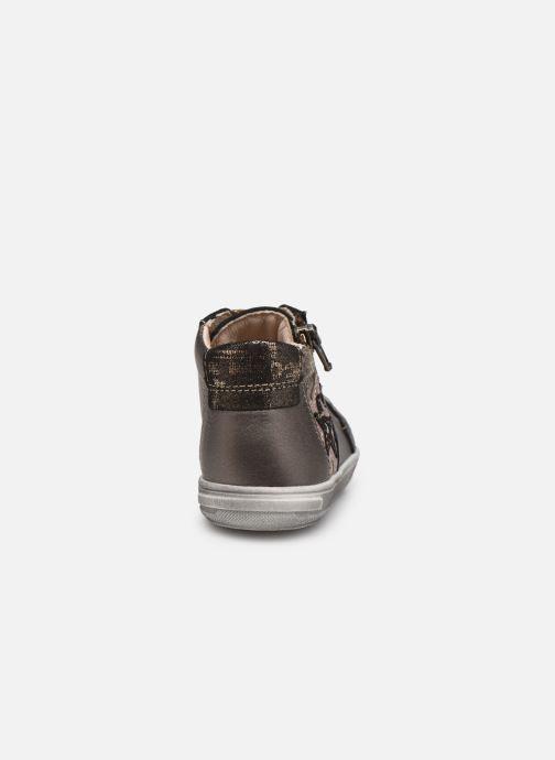 Bottines et boots Bopy Rozila Or et bronze vue droite