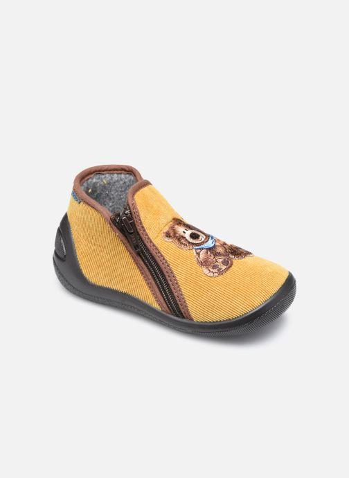 Pantuflas Bopy Agaga Amarillo vista de detalle / par
