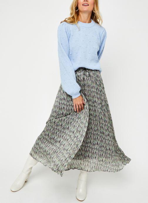 Vêtements Pieces Pcsakira Ls O-Neck Knit Bc Bleu vue bas / vue portée sac