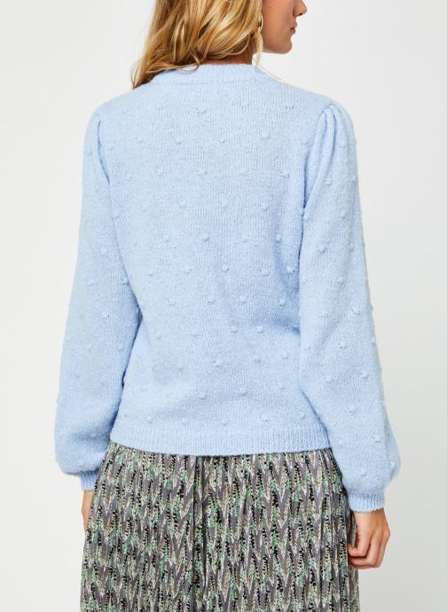 Vêtements Pieces Pcsakira Ls O-Neck Knit Bc Bleu vue portées chaussures