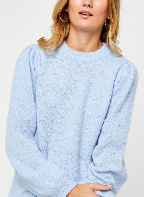 Vêtements Pieces Pcsakira Ls O-Neck Knit Bc Bleu vue face