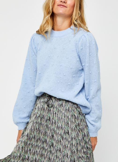 Vêtements Pieces Pcsakira Ls O-Neck Knit Bc Bleu vue détail/paire