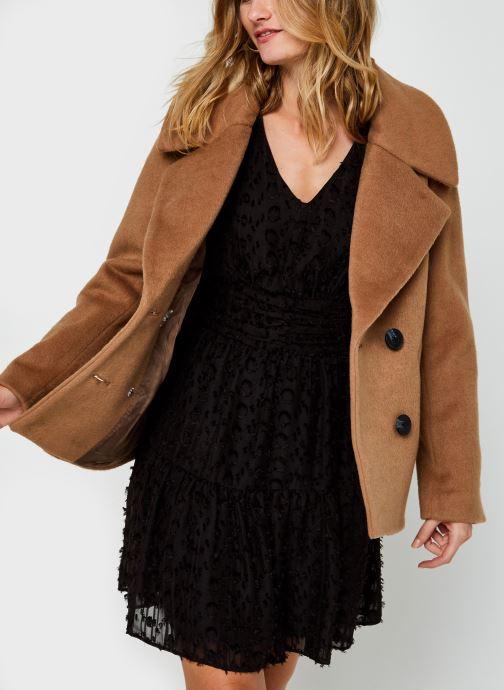Vêtements Pieces Pcsaxona Jacket Beige vue détail/paire