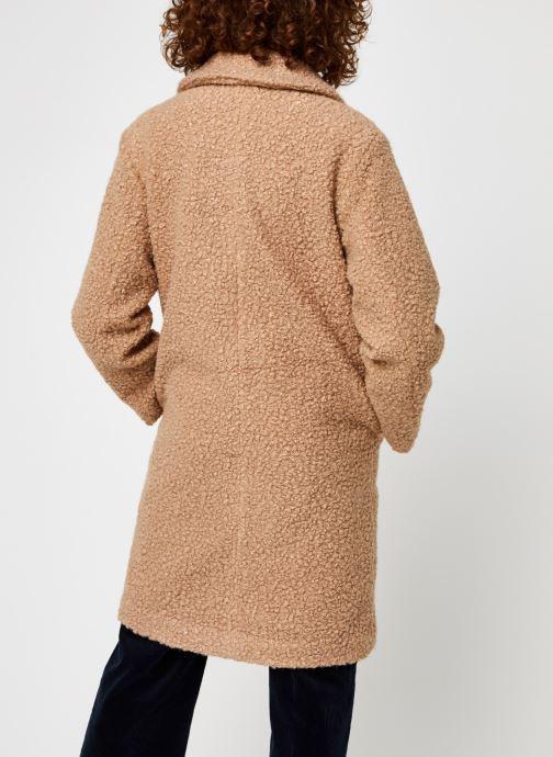 Vêtements Pieces Pcsallie Coat Marron vue portées chaussures
