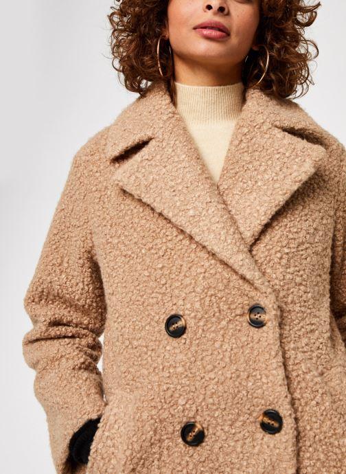 Vêtements Pieces Pcsallie Coat Marron vue face