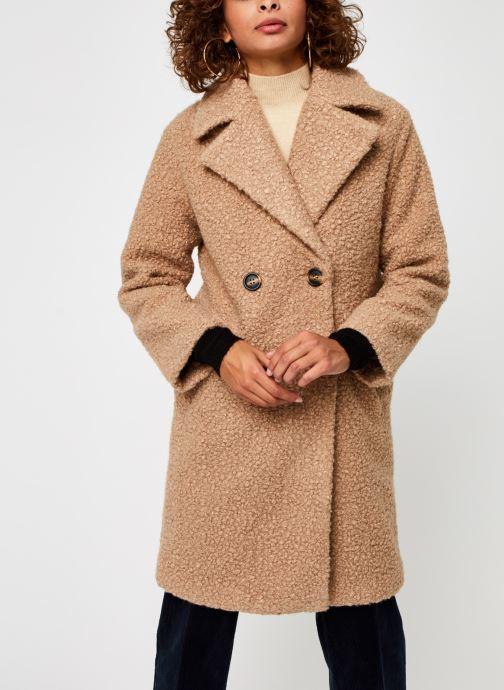 Vêtements Pieces Pcsallie Coat Marron vue droite