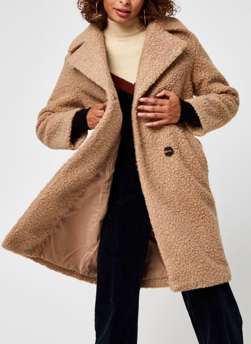 Vêtements Pieces Pcsallie Coat Marron vue détail/paire
