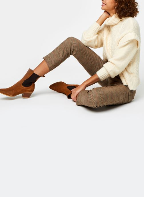 Vêtements Pieces Pcsappa Ls Roll Neck Knit Blanc vue bas / vue portée sac