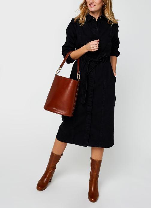 Vêtements Pieces Pcrosie Midi Stud Dress Noir vue bas / vue portée sac