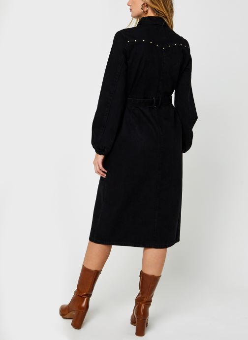 Vêtements Pieces Pcrosie Midi Stud Dress Noir vue portées chaussures