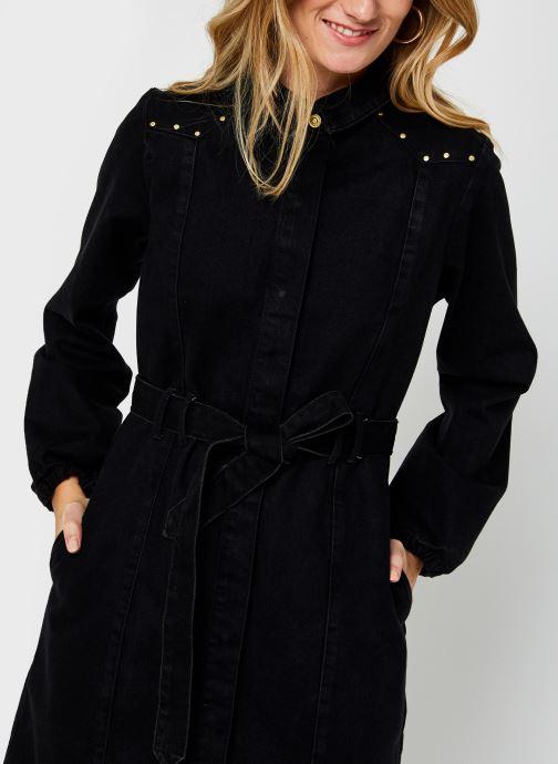 Vêtements Pieces Pcrosie Midi Stud Dress Noir vue face