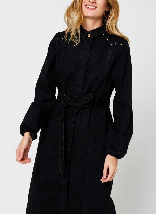 Vêtements Pieces Pcrosie Midi Stud Dress Noir vue droite