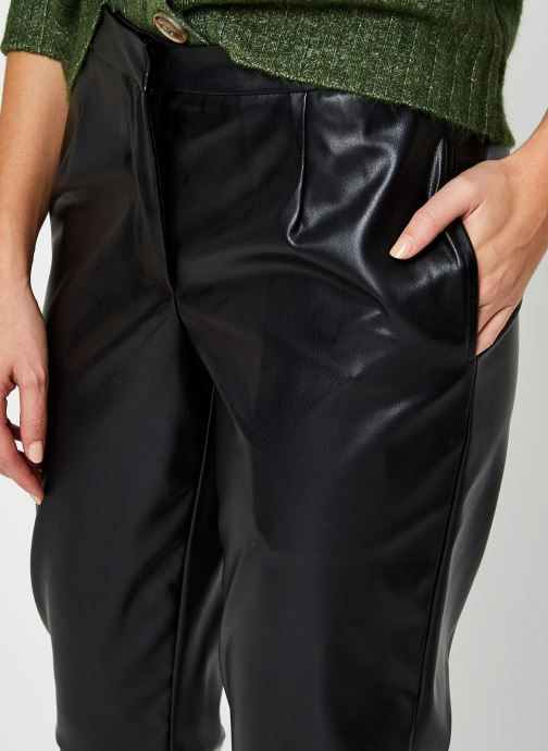Kleding Pieces Pcroot Cropped Pants Zwart voorkant