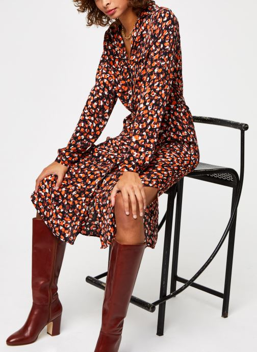 Vêtements Pieces Pcraya Midi Dress Noir vue détail/paire