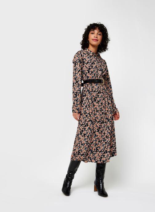 Vêtements Pieces Pcrandy Shirt Midi Dress Noir vue bas / vue portée sac