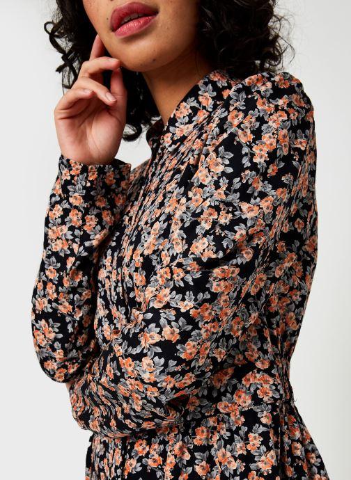 Vêtements Pieces Pcrandy Shirt Midi Dress Noir vue face