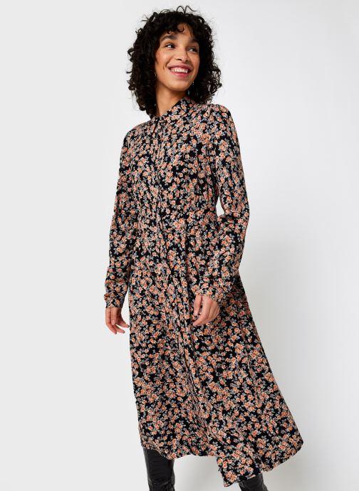Vêtements Pieces Pcrandy Shirt Midi Dress Noir vue droite