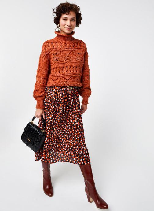 Vêtements Pieces Pcraya Midi Skirt Noir vue bas / vue portée sac