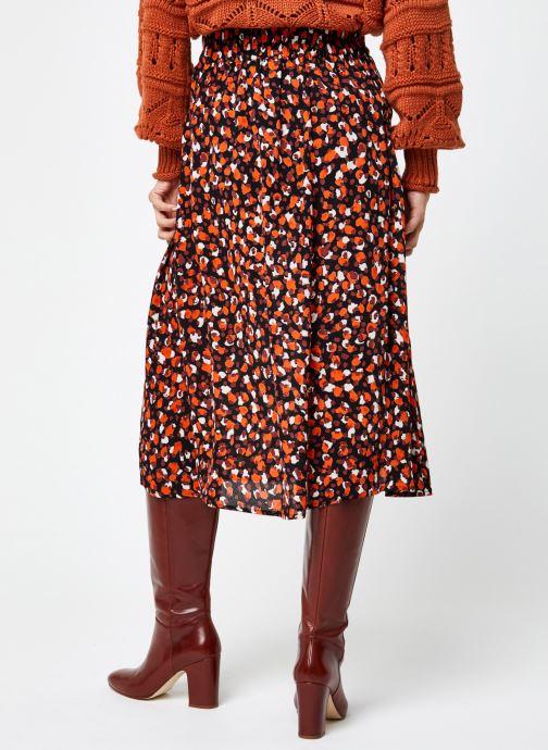 Vêtements Pieces Pcraya Midi Skirt Noir vue portées chaussures