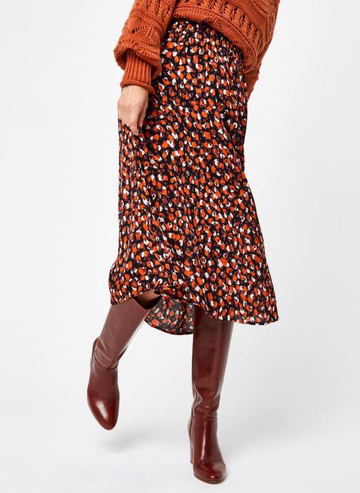 Vêtements Pieces Pcraya Midi Skirt Noir vue détail/paire