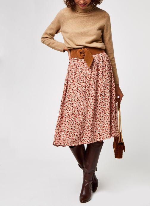 Vêtements Pieces Pcraya Midi Skirt Rose vue bas / vue portée sac