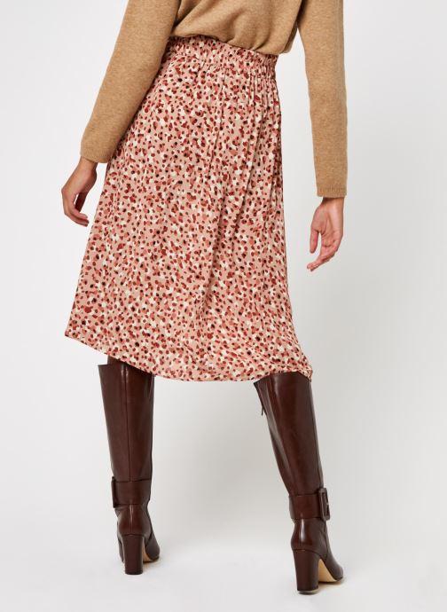 Vêtements Pieces Pcraya Midi Skirt Rose vue portées chaussures
