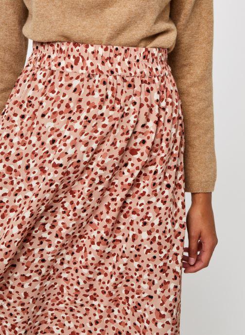 Vêtements Pieces Pcraya Midi Skirt Rose vue face