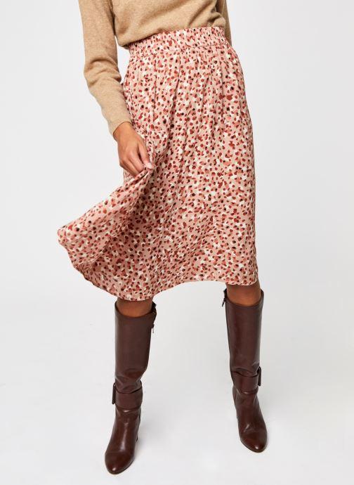 Vêtements Pieces Pcraya Midi Skirt Rose vue détail/paire