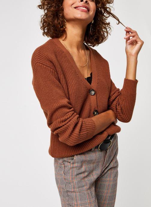 Vêtements Pieces Pckarie Ls Knit Cardigan Marron vue détail/paire