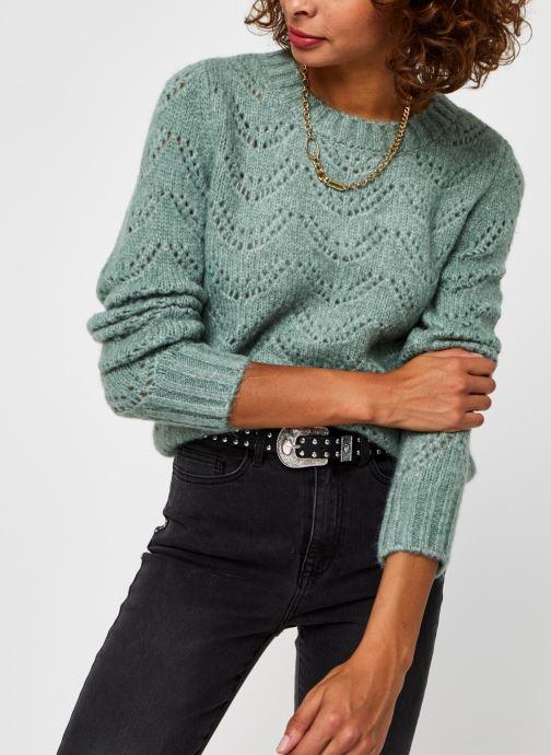 Vêtements Pieces Pcbibi Ls Knit Vert vue détail/paire