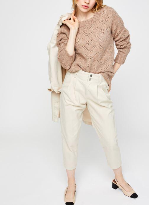 Vêtements Pieces Pcbibi Ls Knit Beige vue bas / vue portée sac