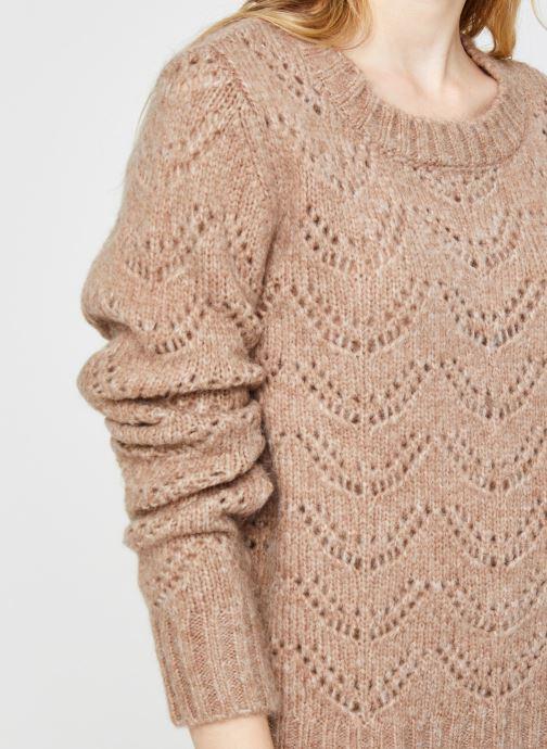 Vêtements Pieces Pcbibi Ls Knit Beige vue face