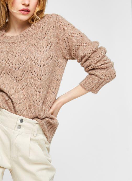 Vêtements Pieces Pcbibi Ls Knit Beige vue détail/paire