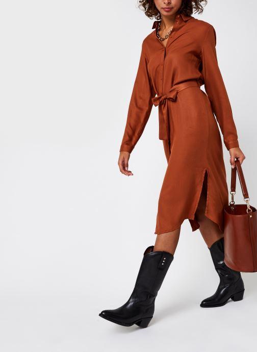 Vêtements Pieces Pcbarbel Ls Long Dress Cp Bc Marron vue bas / vue portée sac