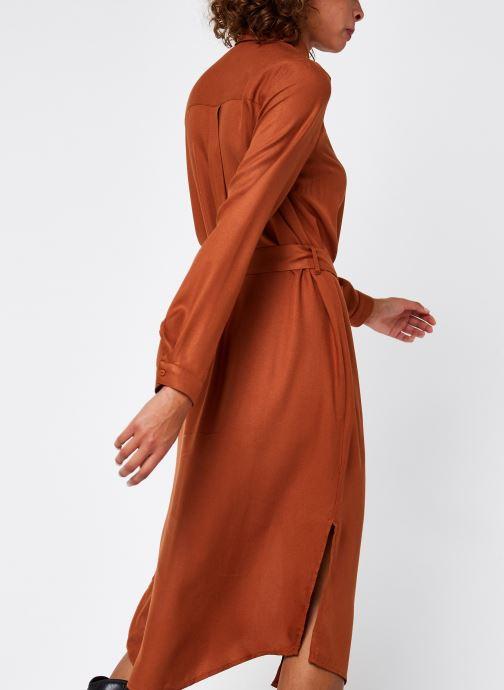 Vêtements Pieces Pcbarbel Ls Long Dress Cp Bc Marron vue portées chaussures