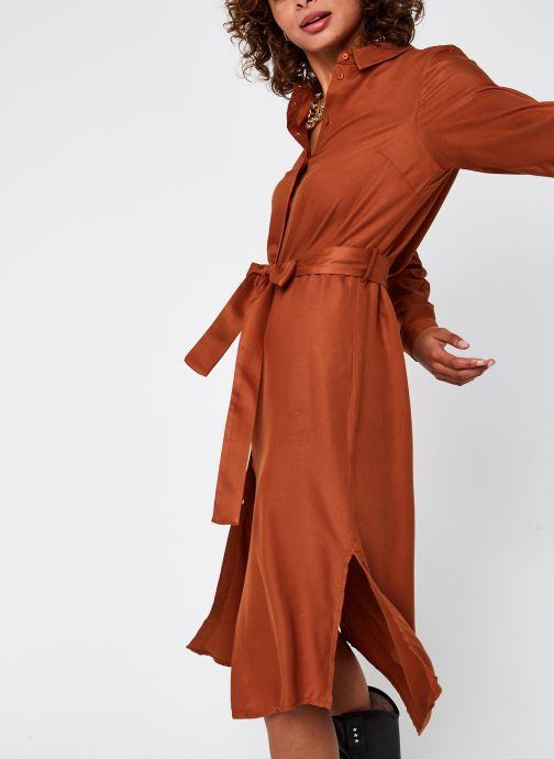 Vêtements Pieces Pcbarbel Ls Long Dress Cp Bc Marron vue détail/paire
