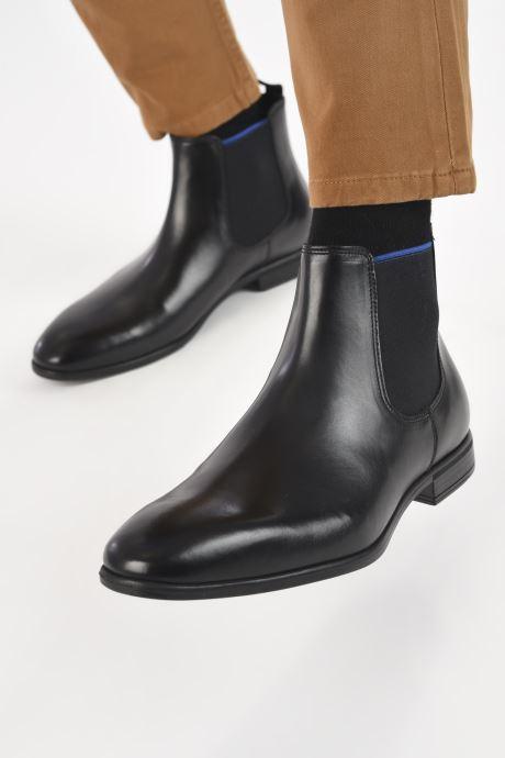 Bottines et boots Marvin&Co Melezio Noir vue bas / vue portée sac