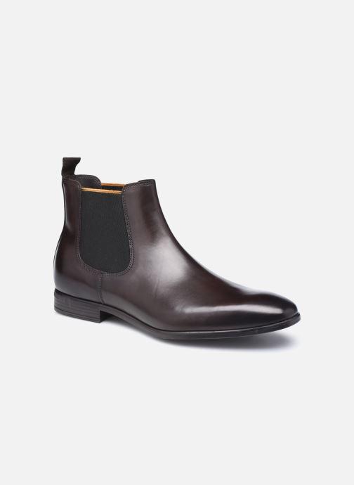 Ankelstøvler Marvin&Co Melezio Brun detaljeret billede af skoene