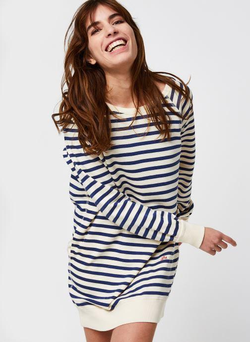 Vêtements Leon & Harper Rana Stripes Blanc vue droite