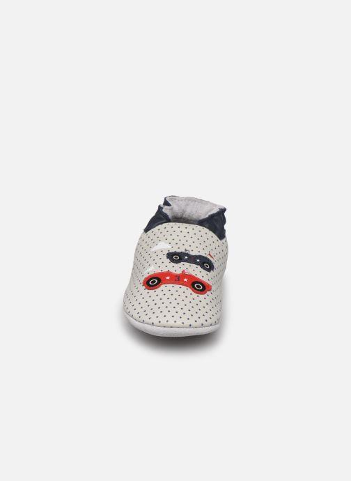 Chaussons Robeez Sporty Gris vue portées chaussures