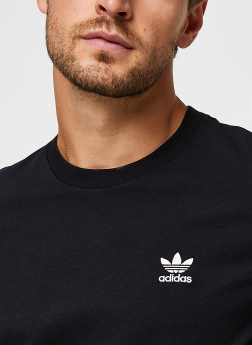 Vêtements adidas originals Essential Tee Noir vue face