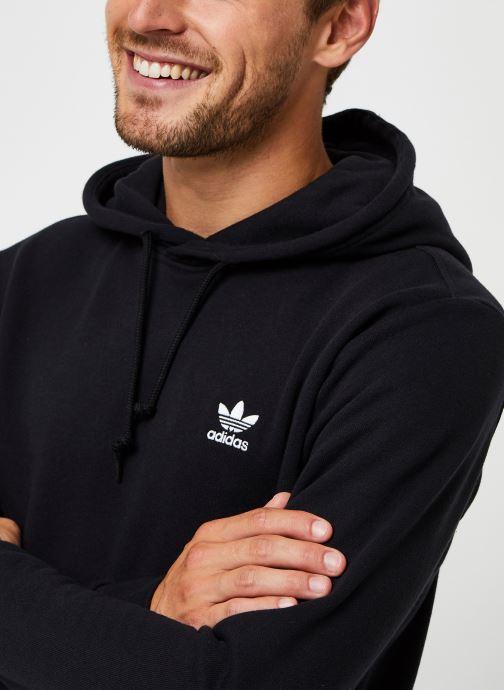 Vêtements adidas originals Essential Hoody Noir vue face