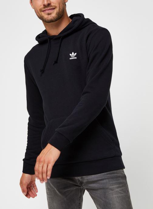 Vêtements adidas originals Essential Hoody Noir vue détail/paire