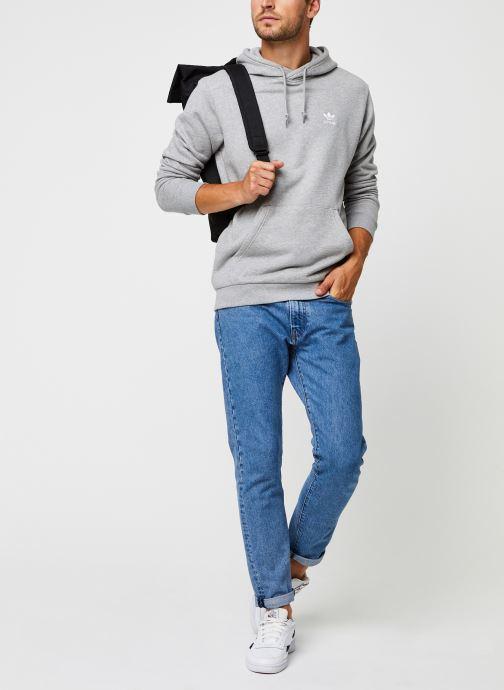 Vêtements adidas originals Essential Hoody Gris vue bas / vue portée sac