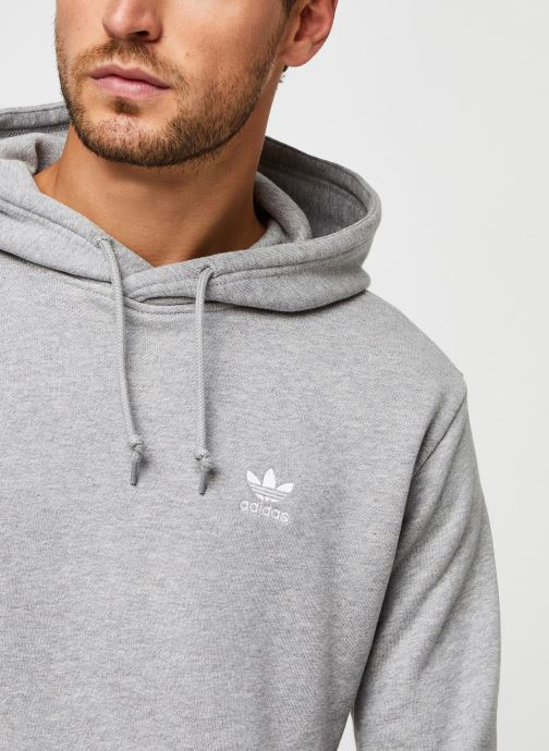 Vêtements adidas originals Essential Hoody Gris vue face