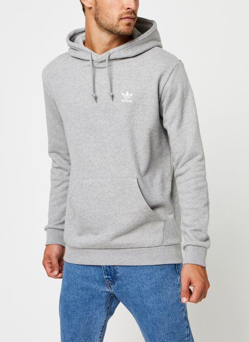 Vêtements adidas originals Essential Hoody Gris vue droite